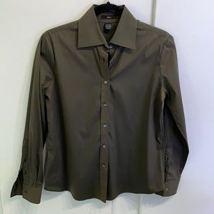 Olive Green Women's Button Down